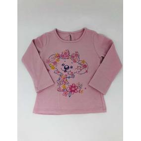 d00d0c1f02bcd Camiseta Lilica Ripilica Manga Longa Rosa Com Desenho