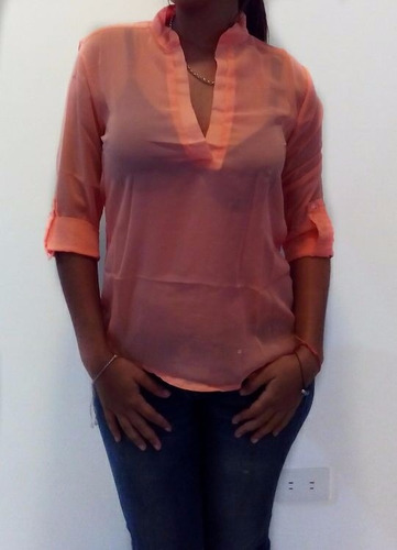 blusas  camisas chifon elegantes dama ultima moda oferta