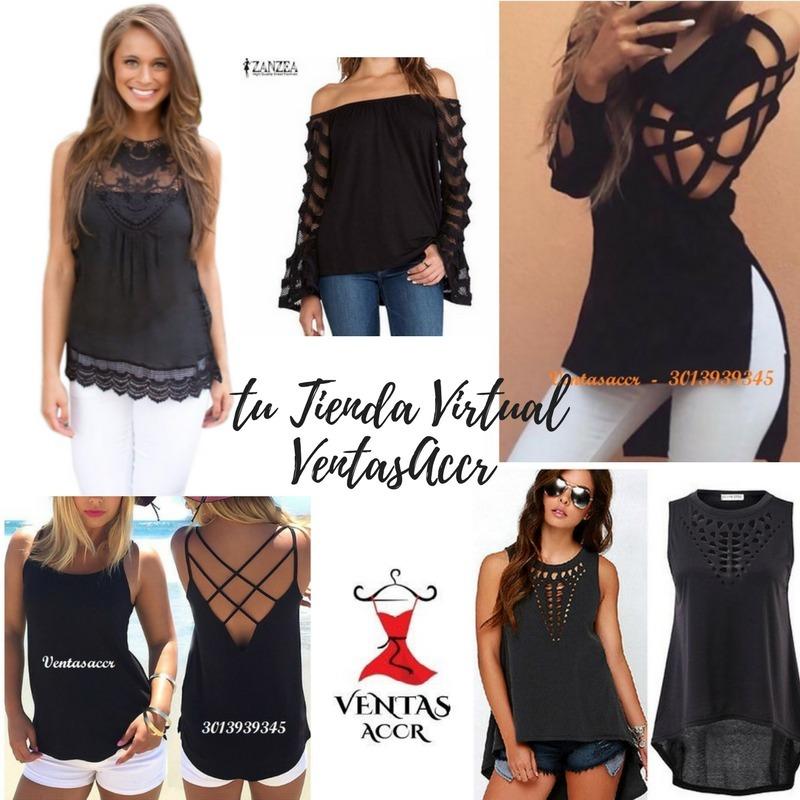 e18c26832425 Blusas Camisas Mujer Elegantes Casual Moda Juvenil Importada - $ 45.000 en  Mercado Libre
