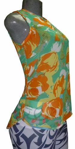 blusas chifon full moda