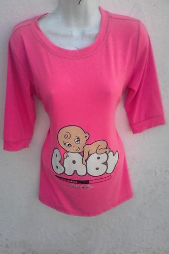 blusas con estampado de bebé (maternidad, embarazo)