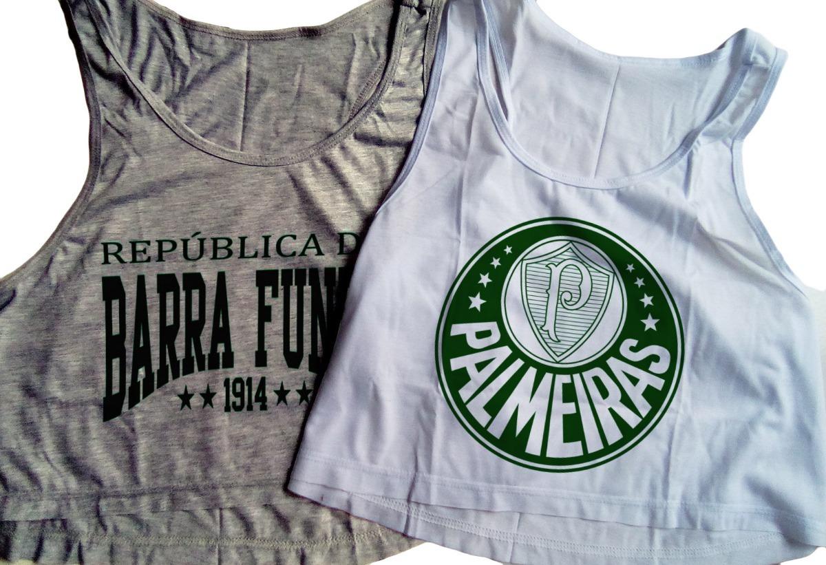 9248c7059f Blusas Cropped Palmeiras Feminina Camiseta 2018 Regata Nova - R  46 ...