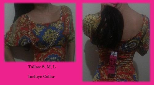 blusas dama incluye collar *oferta*