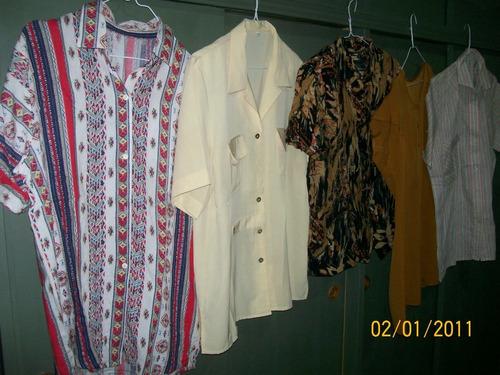blusas dama mangas cortas/s/mangas, como nuevas.