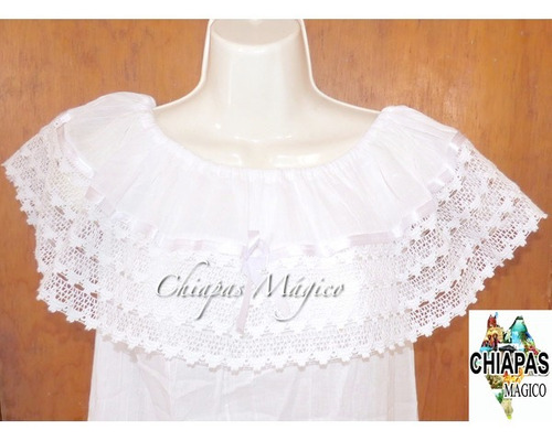 blusas de chiapas / tipo campesina / unitalla / blancas