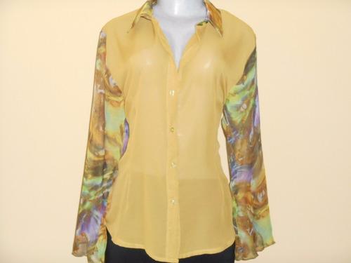 blusas de chiffon franelas y seda tallas s m l xl