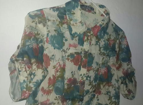 blusas de dama casual floreada de moda talla s