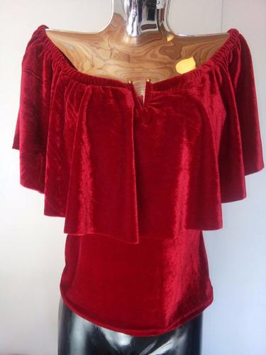blusas de mujer, tercipelo y viscosa, talla pequeña-mediana