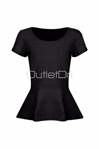 blusas e roupas femininas peplum em bandagem blusa peplum