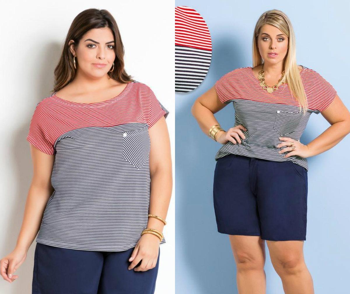f5d98aa66 blusas e roupas femininas plus size modela corpo verão. Carregando zoom.