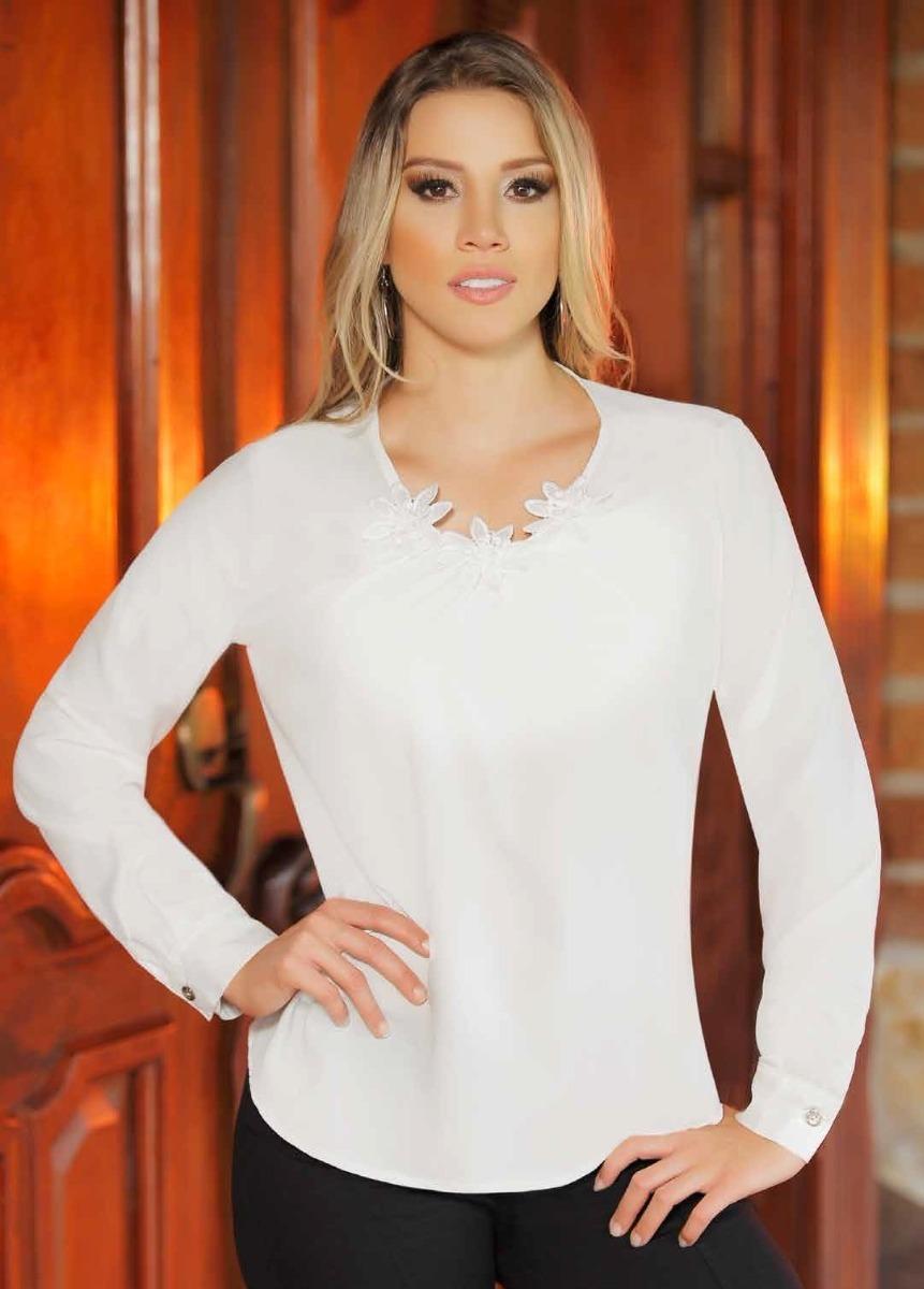 dd4f087d8 blusas elegantes algodon manga larga toda ocasión señoras. Cargando zoom.