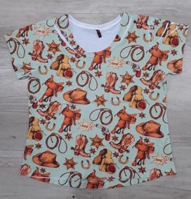 92ecc512ed Blusa Feminina Enzo Tamanho G1 - Camisetas no Mercado Livre Brasil