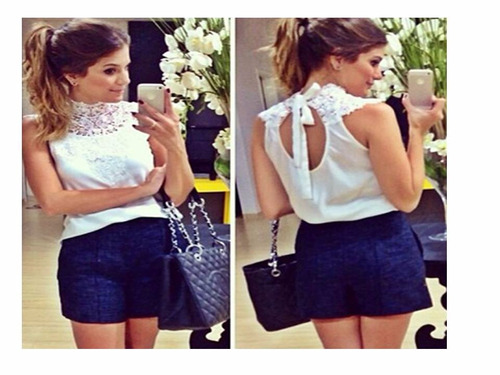 blusas femininas de chiffon vários modelos pronta entrega