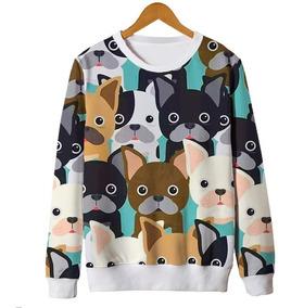 9f9c843dde2212 Blusas Femininas Estampa Pugs Cachorros Tumblr Vintage Mt