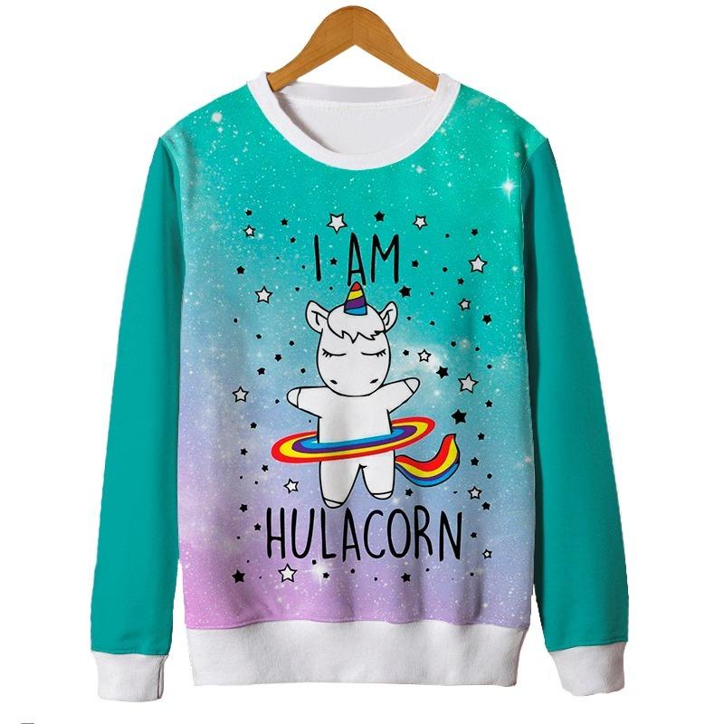 1a72900e5 blusas femininas moletom roupa unicornio fofo cute tumblr mt. Carregando  zoom.