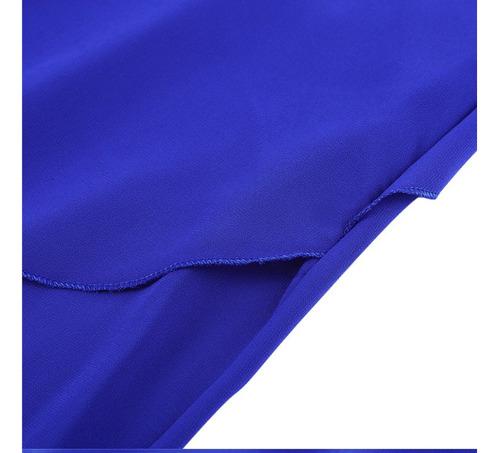 blusas mujer azul rey manga corta talla l