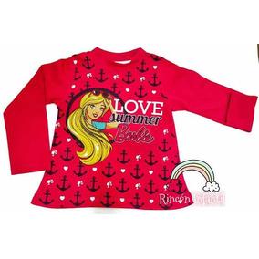 d51e0c56a Blusa Tres Cuarto De Barbie Para Niñas