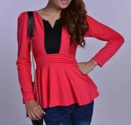 blusas para damas  peplum diseñosextrem2013