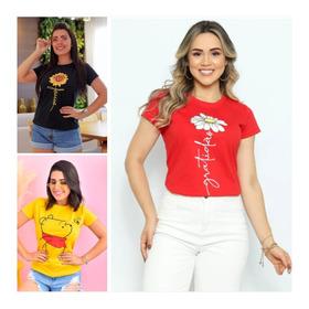 Blusas T Shirt Femininas 100% Algodão 37 Reais Cada