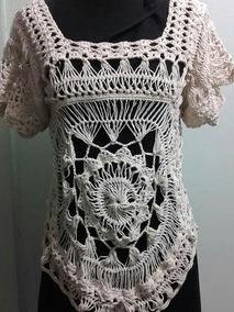 8e129e636 Blusas Tejidas Horquilla Crochet
