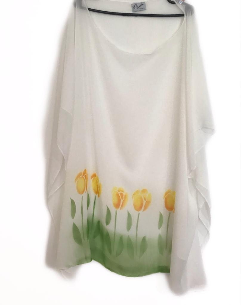 Blusas Tunicas Vestidos Pintados A Mano Tulipan