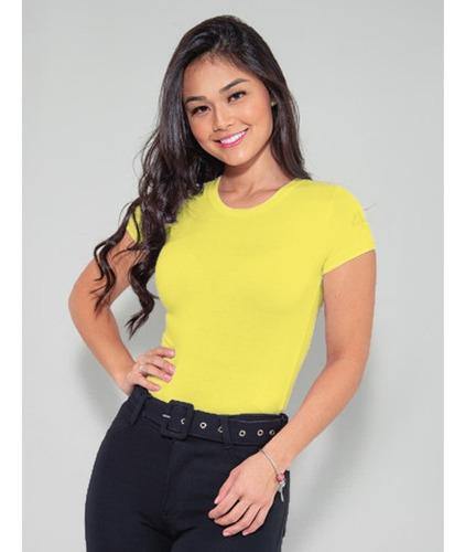 blusinha básica baby look feminina revanche original - cores