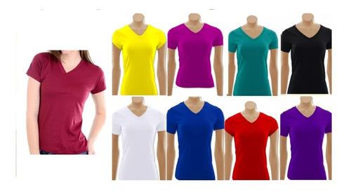 blusinha camiseta golav com manga curta feminina kit10peças