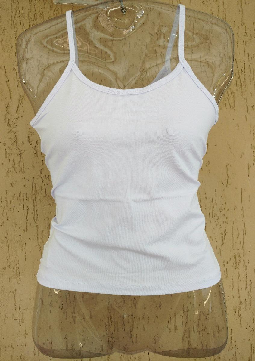 50e317c12c blusinha de alcinha branca básica algodão malha acinturada. Carregando zoom.