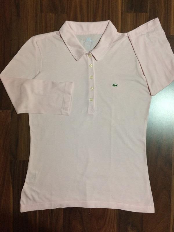 6349cc40f618a blusinha feminina lacoste 38 rosa m nova importada original. Carregando  zoom.