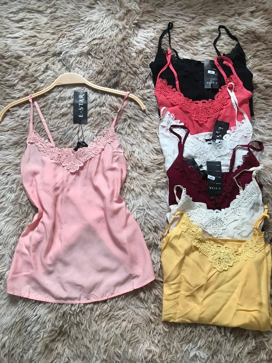 a3a7dfebc3 blusinha feminina renda regata viscose camiseta kit10 peças. Carregando  zoom.