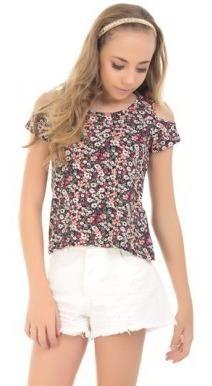 blusinha menina estampada infantil juvenil verão