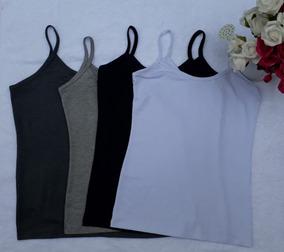 f83b2f49d3 Kit 10 Regatas Blusas Feminina Alcinha Varias Cores - Camisetas e Blusas no  Mercado Livre Brasil
