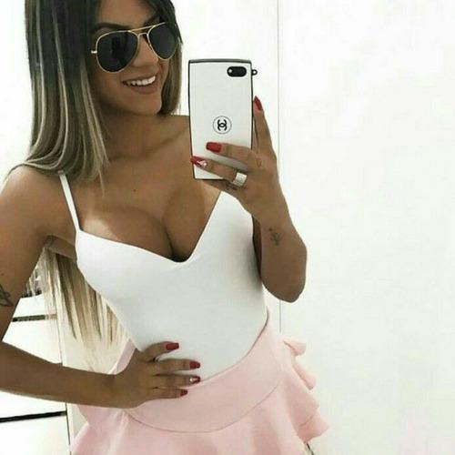 blusinha regata top feminina barata com bojo decote promoção