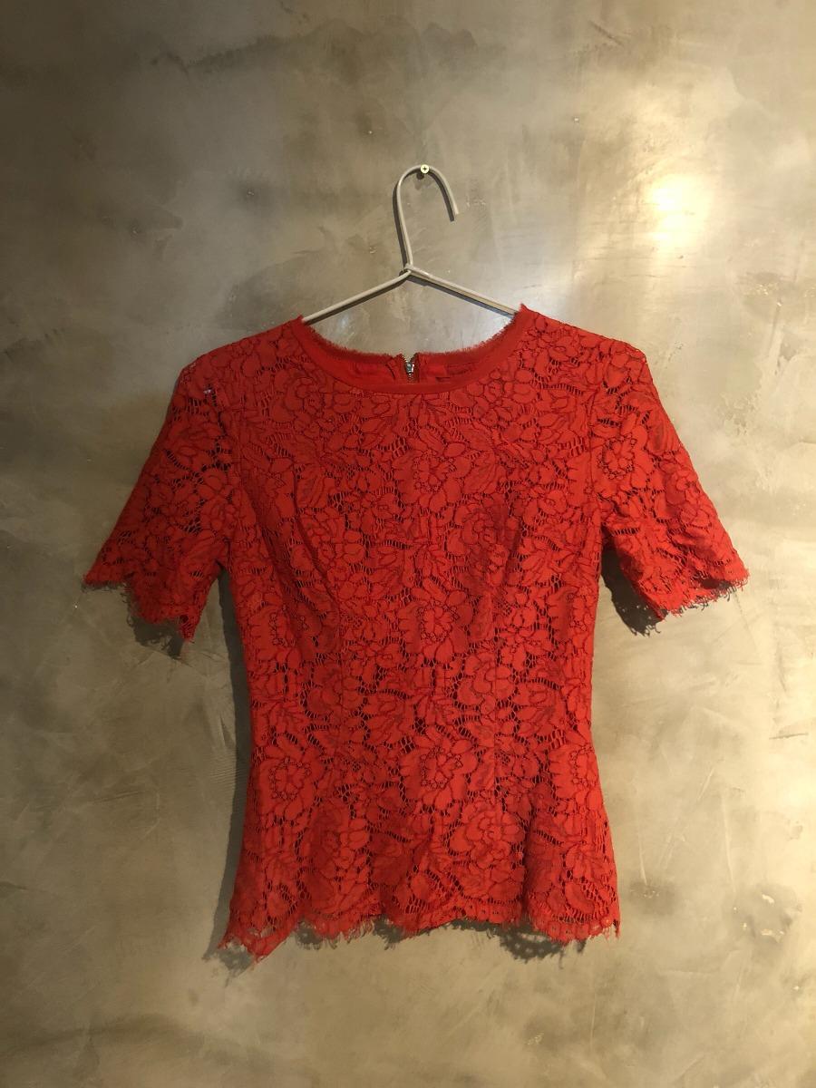 blusinha renda lelis vermelha. Carregando zoom. e81f579c993