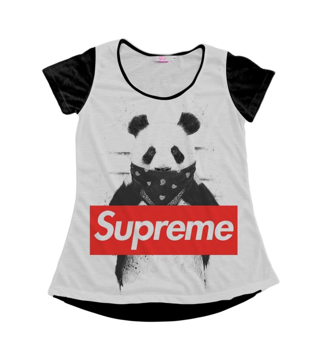 blusinha t-shirt baby look supreme panda swag pop tumblr mt. Carregando zoom.  remera supreme ... 273e8f78095