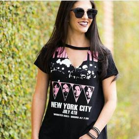 5bcd4c39f Blusa Choker Pink Floyd - Camisetas e Blusas no Mercado Livre Brasil