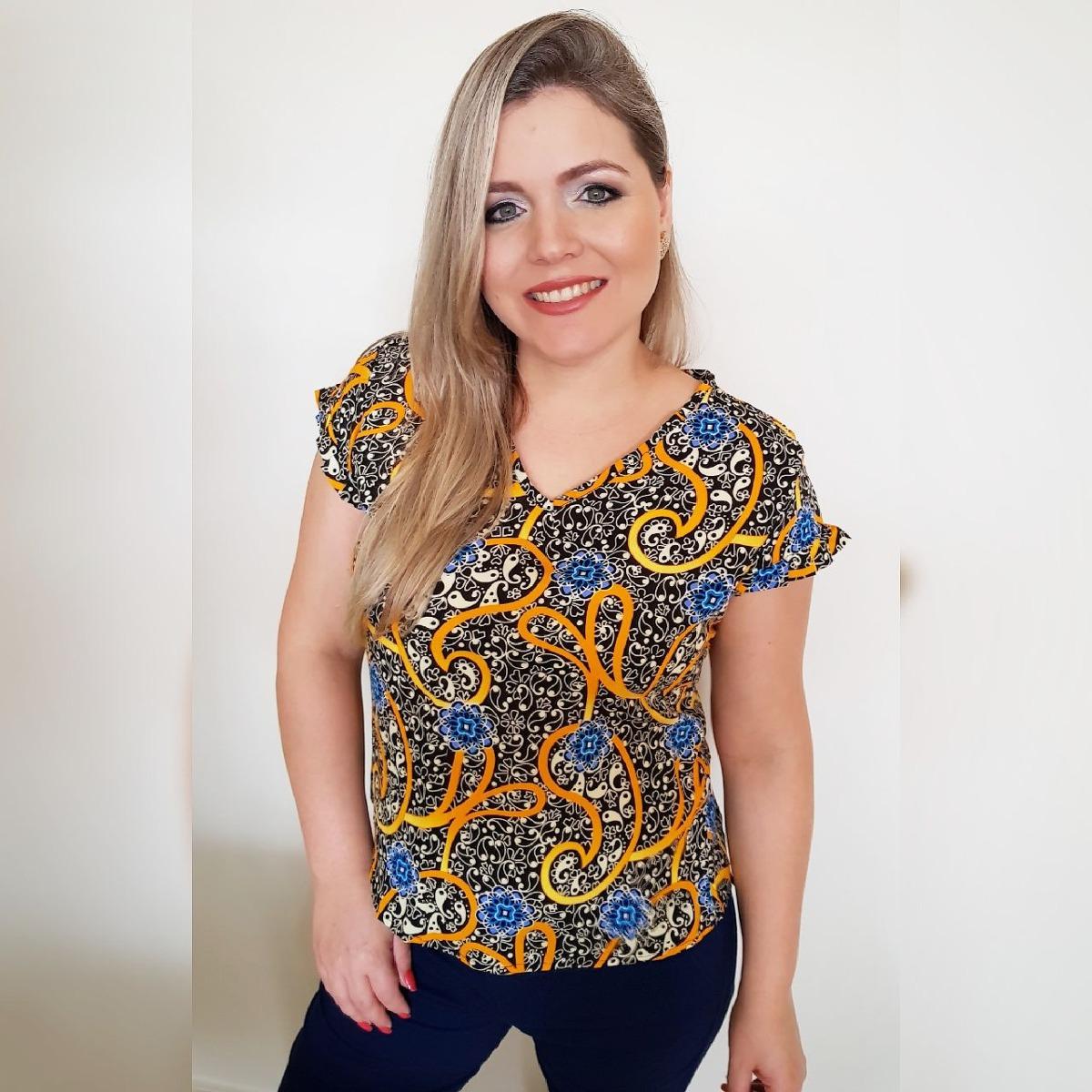 e32eef8ad1 blusinha viscose blusa de mangua curta moda feminina. Carregando zoom.
