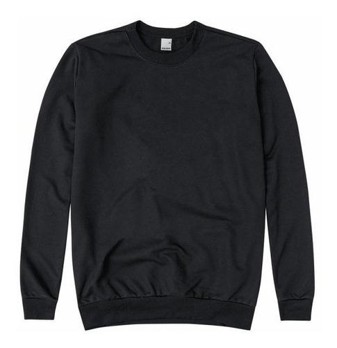 blusão básico moletom masculino blusa moletom pa sem capuz