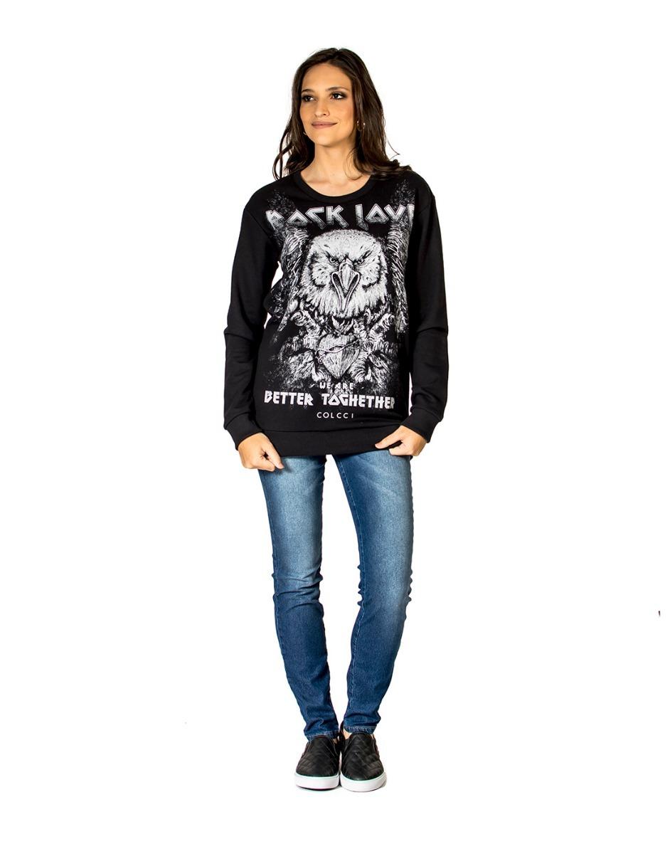 433c01e27 Blusão Moletom Rock Love Colcci Novo Original - R$ 197,00 em Mercado ...