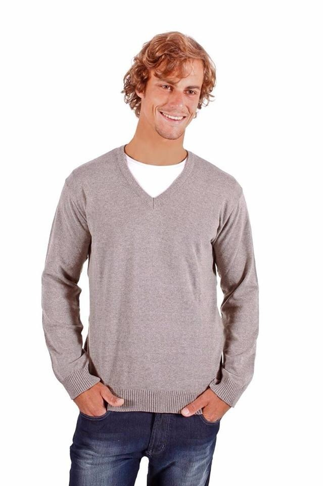 blusão suéter masculino gola v. Carregando zoom. 3a82adfa505