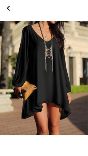 blusón  blusa  negro elegante lindo