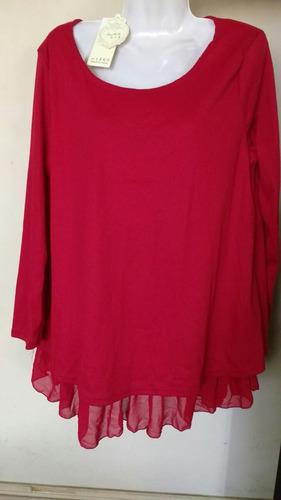 blusón rojo talla xl nuevo$10000