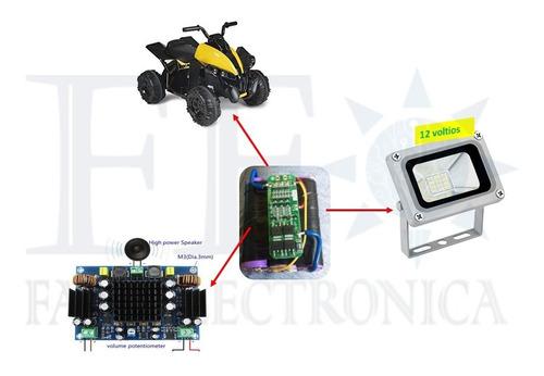 bms 3s protección cargador batería de litio 18650 12v 20a