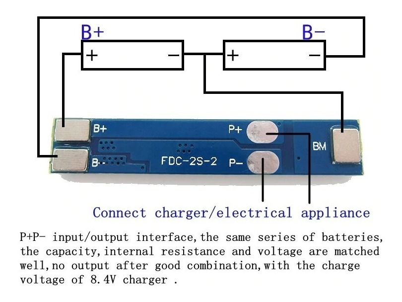Bms Protec 2s 3a 8,4 V 18650 Charger Arduino