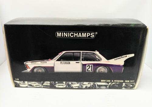 bmw 320i r. peterson drm 1977 escala 1/18 minichamps