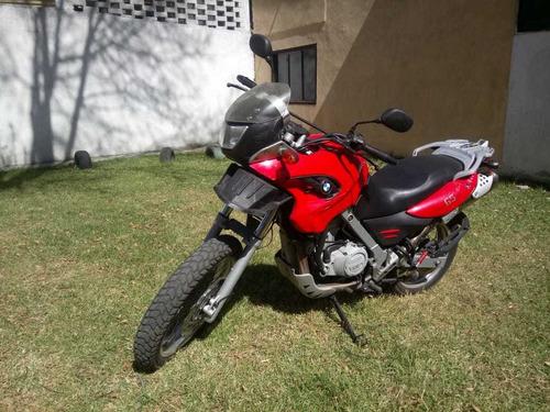 bmw 650 gs 2007 roja, llantas nuevas pirelli