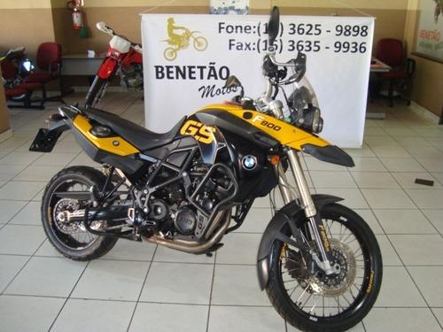 bmw f 800 gs amarelo 2009