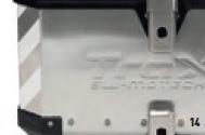 bmw f650/700/800 kit top case moto con top rack