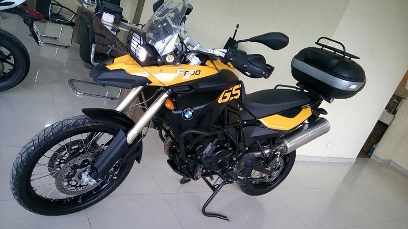 bmw f800 gs impecável amarela + acessórios 2009 completa