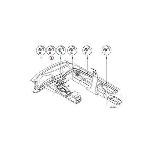 bmw genuine instrument panel cent. tira de madera izquierda